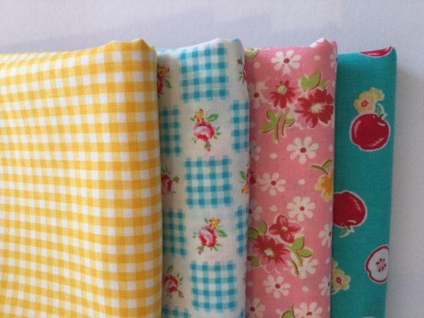 Stoffpaket - Super Sale - (türkis,rosa, gelb)