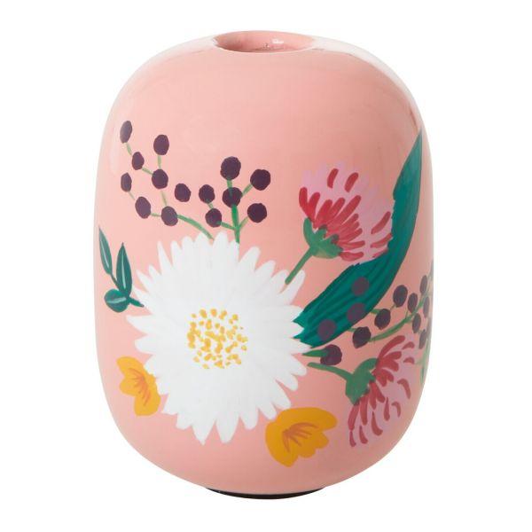 Kerzenständer (apricot, Blumen) von Rice