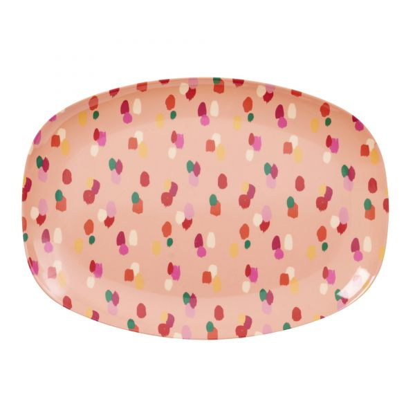 "Melamin Servierteller ""Coral Dapper Dot"" print von Rice"