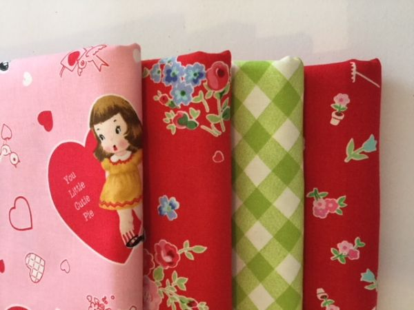 Stoffpaket - Super Sale - (rot, rosa,grün)