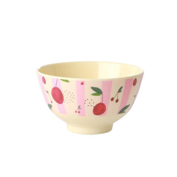 Mini Melamin Bouwl cherry print von Rice
