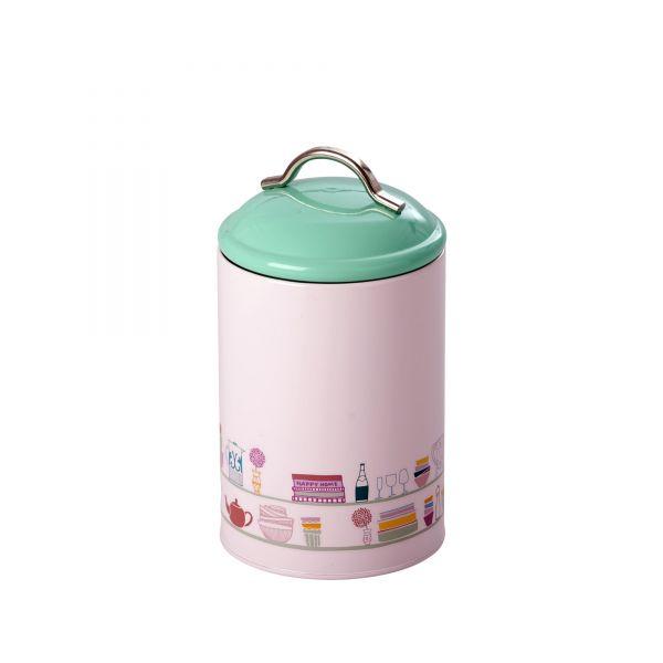 Kitchen Jar (Gefäß mit Deckel) soft pink with Charlottes Cupboard Print von Rice