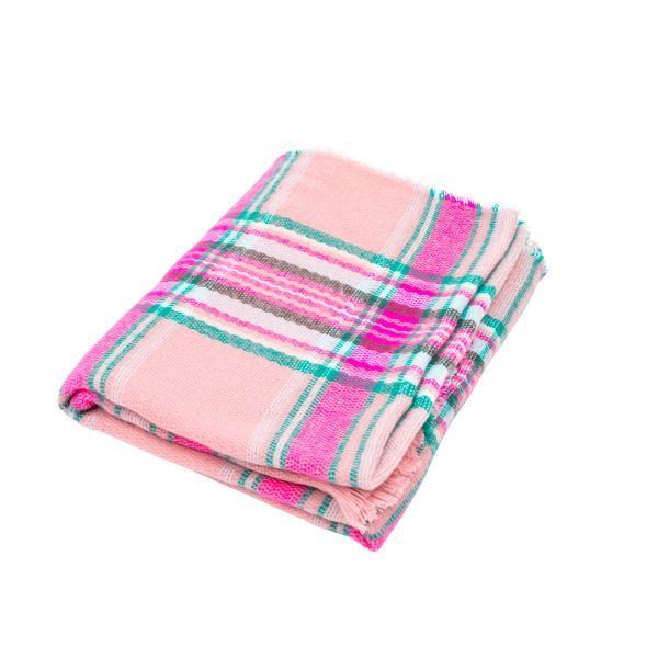 Schal Tartan pink von Rice