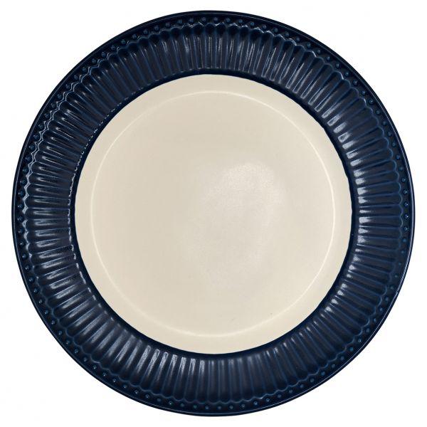 Dinner Plate Alice dark blue von GreenGate