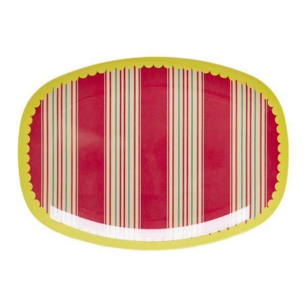 Melamin Servierteller Striped print von Rice