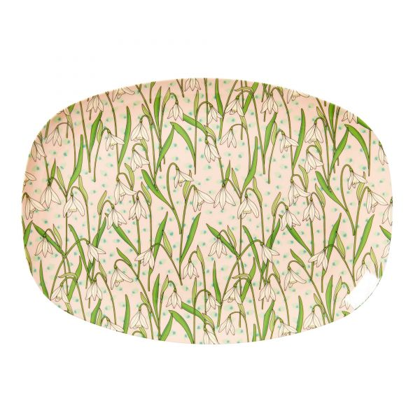 Melamin Servierteller Snowdrop - print von Rice