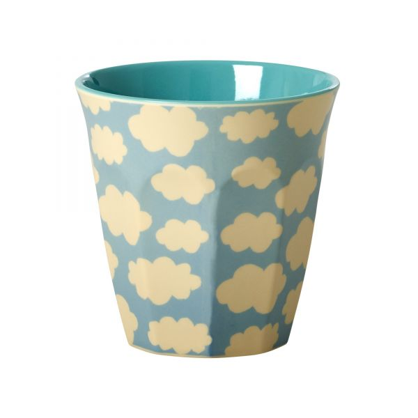 Melamin Becher two tone cloud print von Rice
