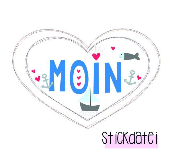 Stickdatei - Super-Herz Moin