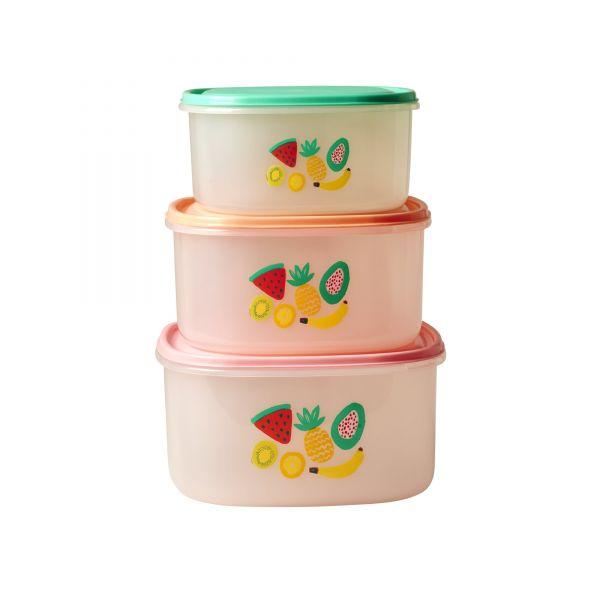 """Foodbox im 3er-Set mit """"Tutti Frutti"""" print von Rice"""
