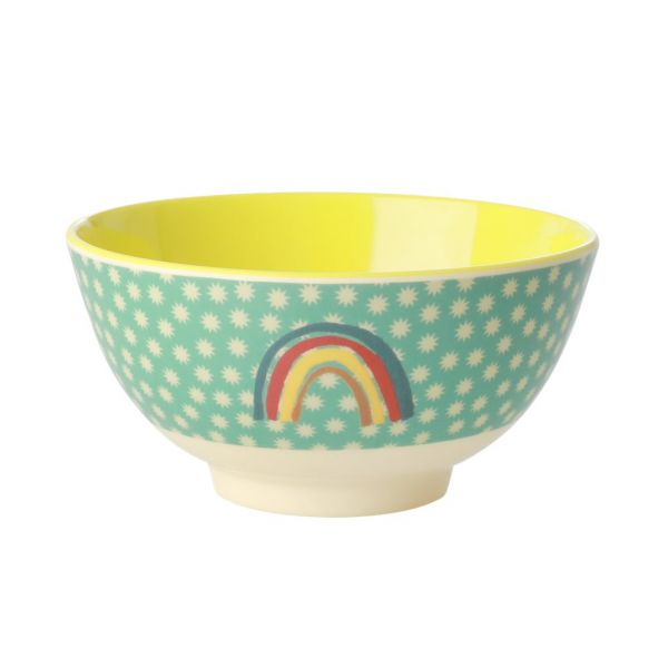 Melamin Bouwl rainbow and stars print print von Rice