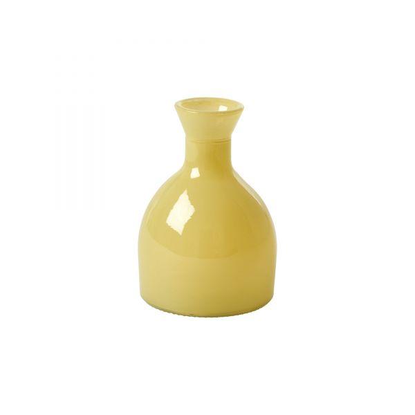 Vase aus Glas in soft yellow von Rice