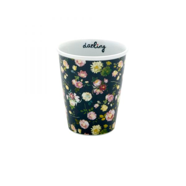 Porcelan Becher dark rose von Rice