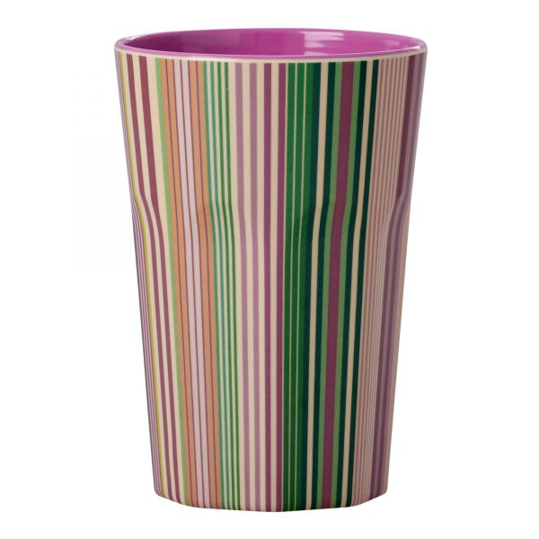 Melamin Becher tall Today is Fun Stripe Print von Rice