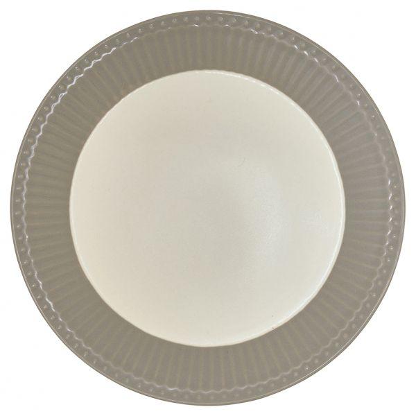 Plate Alice warm grey von GreenGate