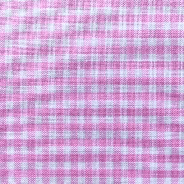 Baumwollstoff - rosa Kariert