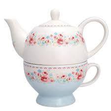 Teetasse mit Kanne Tess white von GreenGate