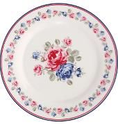 Plate Hailey White von GreenGate