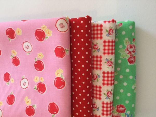 Stoffpaket - Super Sale (rot,grün,rosa)