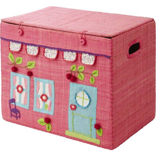 Aufbewahrungskorb in pink - girls house - Größe M von Rice