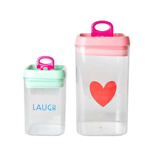 Lebensmittel-Boxen mit Herz ; Laugh 2er Set