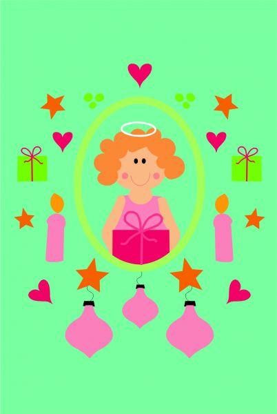 Postkarte - Ornament mit Kornelia