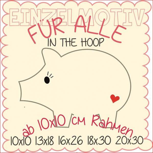 In the Hoop Schwein ( Alle Rahmengrößen )