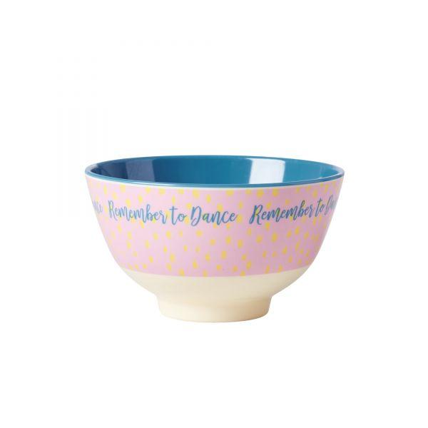 Melamin Schale klein `Remember to Dancer`Print von Rice