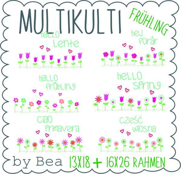 Multikulti hallo Frühling (13x18 und 16x26)