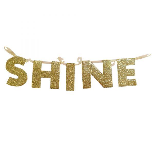SHINE-Girlande in Gold von Rice