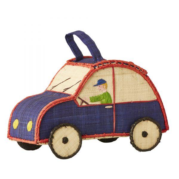 Kids Bag Auto in blau-rot von Rice
