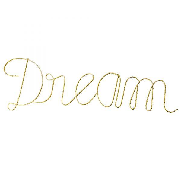 """Leuchte Schriftzug """"Dream"""" von Rice"""