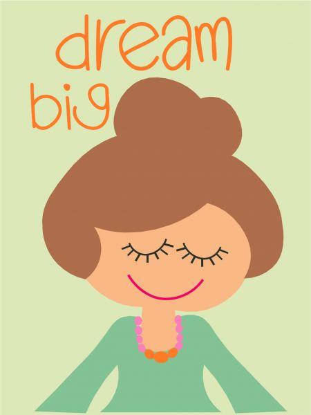 Postkarte - dream big