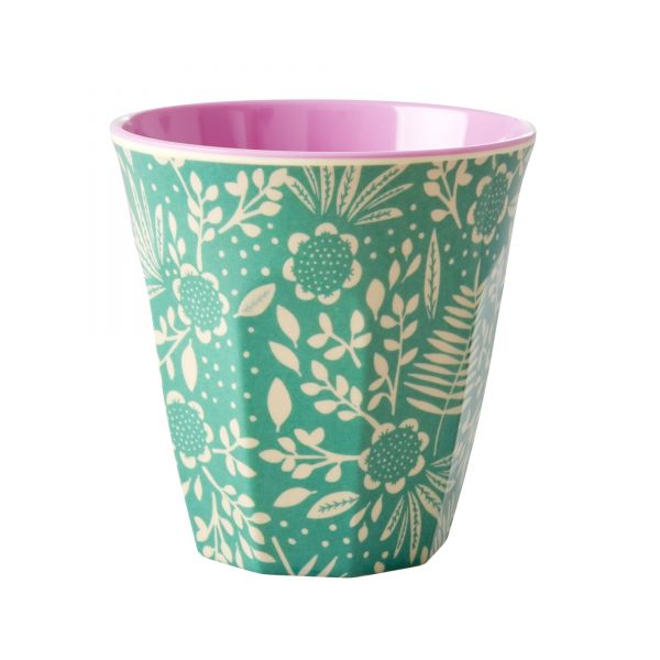 Melamin Becher Fern and Flower - print von Rice